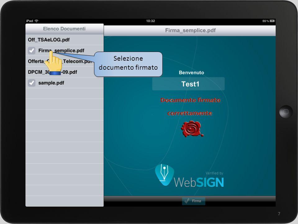 un sistema integrato per la gestione della rete commerciale 7 Selezione documento firmato