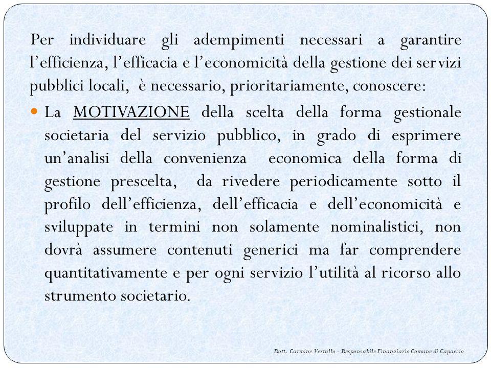 Dott.Carmine Vertullo - Responsabile Finanziario Comune di Capaccio Lart.