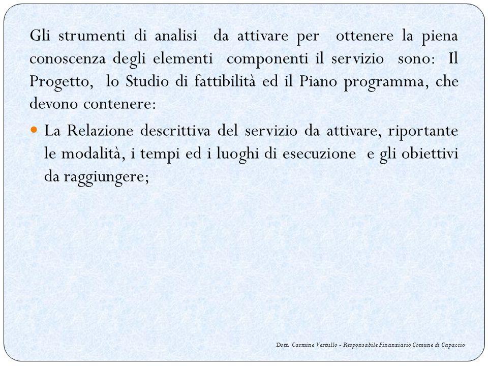 Dott. Carmine Vertullo - Responsabile Finanziario Comune di Capaccio Gli strumenti di analisi da attivare per ottenere la piena conoscenza degli eleme