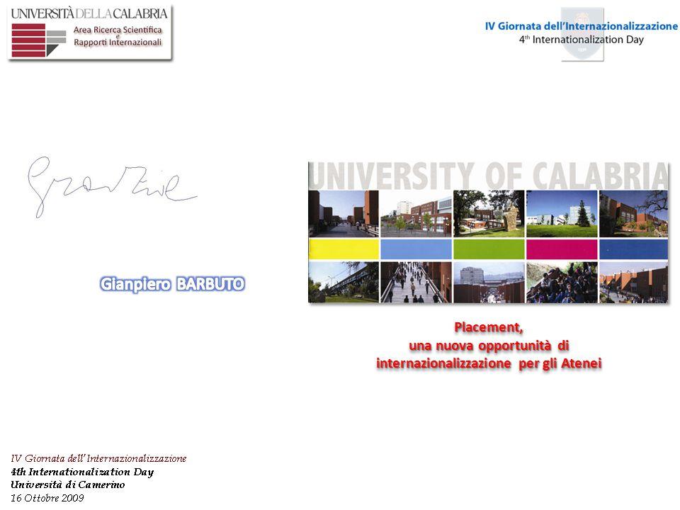 Placement, una nuova opportunità di internazionalizzazione per gli Atenei Placement,