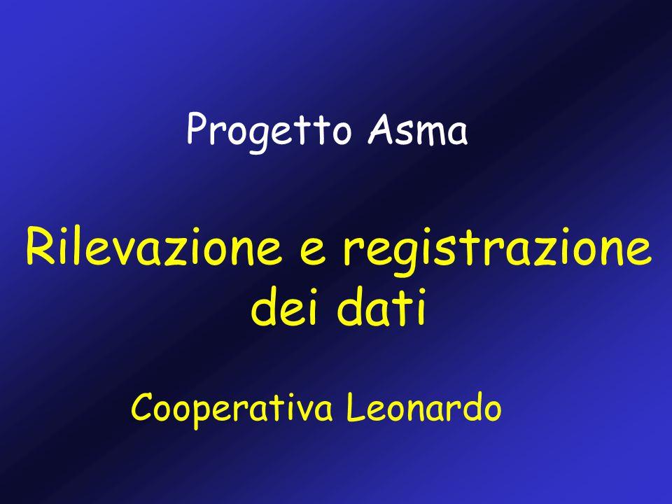 Cooperativa Leonardo Progetto Asma Rilevazione e registrazione dei dati
