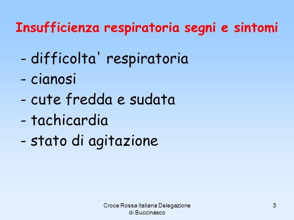 Croce Rossa Italiana Delegazione di Buccinasco 4 C O N V E N Z I O N E D I G I N E V R A 2 2 A G O S T O 1 8 6 4 Arresto respiratorio Stato in cui cessa lattività respiratoria PERICOLO !!!