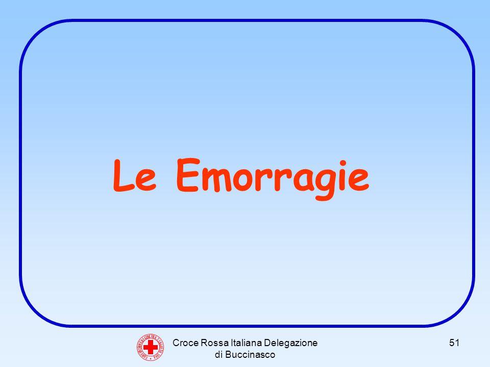 Croce Rossa Italiana Delegazione di Buccinasco 51 Le Emorragie C O N V E N Z I O N E D I G I N E V R A 2 2 A G O S T O 1 8 6 4