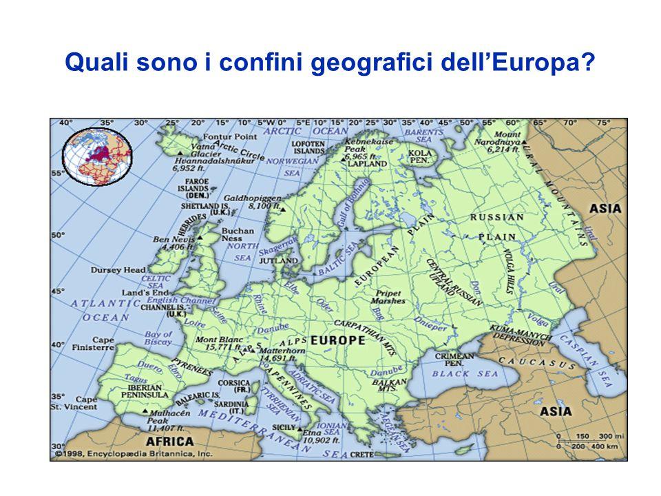Quali sono i confini geografici dellEuropa