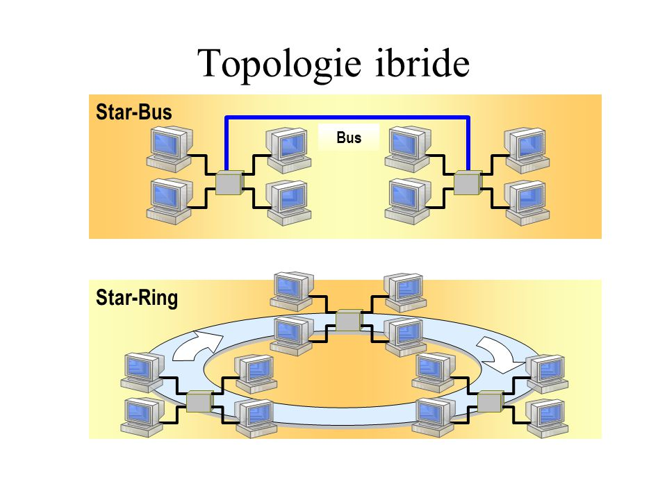 Topologie ibride Star-Bus Bus Star-Ring
