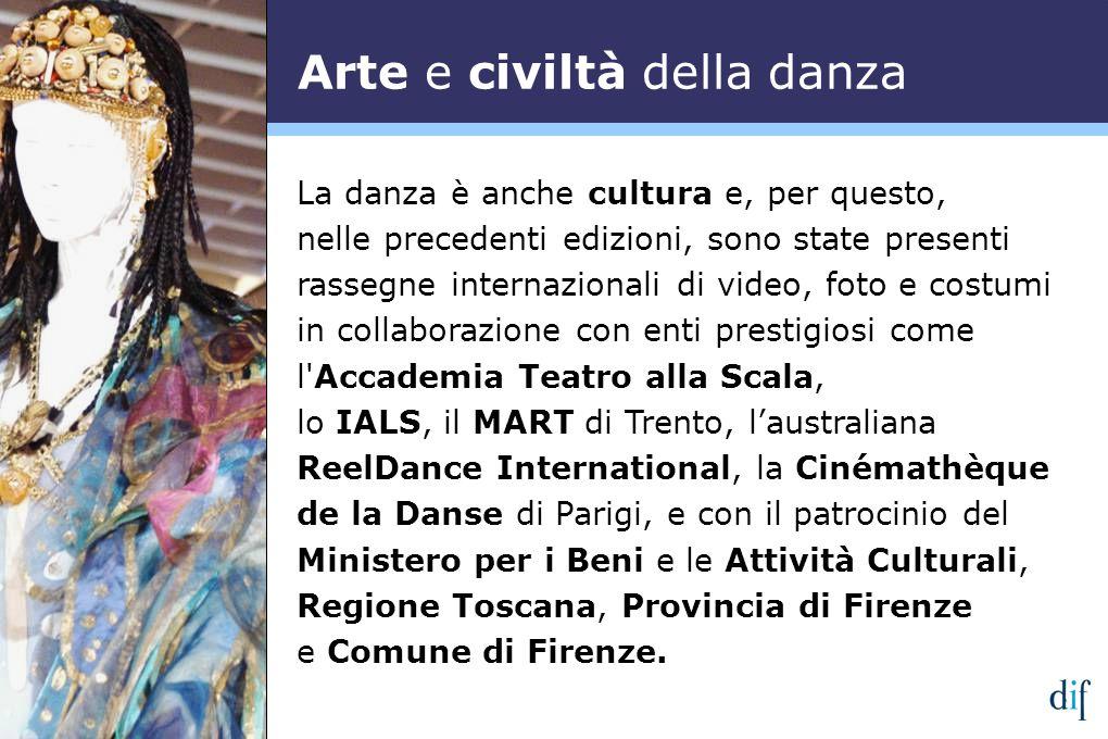 La danza è anche cultura e, per questo, nelle precedenti edizioni, sono state presenti rassegne internazionali di video, foto e costumi in collaborazi