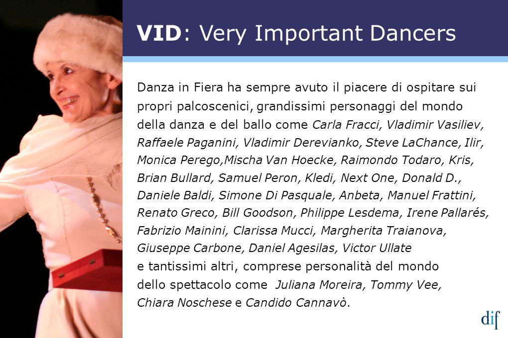 Danza in Fiera ha sempre avuto il piacere di ospitare sui propri palcoscenici, grandissimi personaggi del mondo della danza e del ballo come Carla Fra