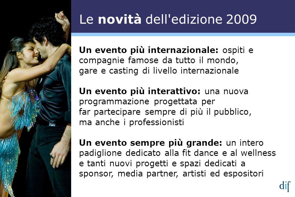 Un evento più internazionale: ospiti e compagnie famose da tutto il mondo, gare e casting di livello internazionale Un evento più interattivo: una nuo