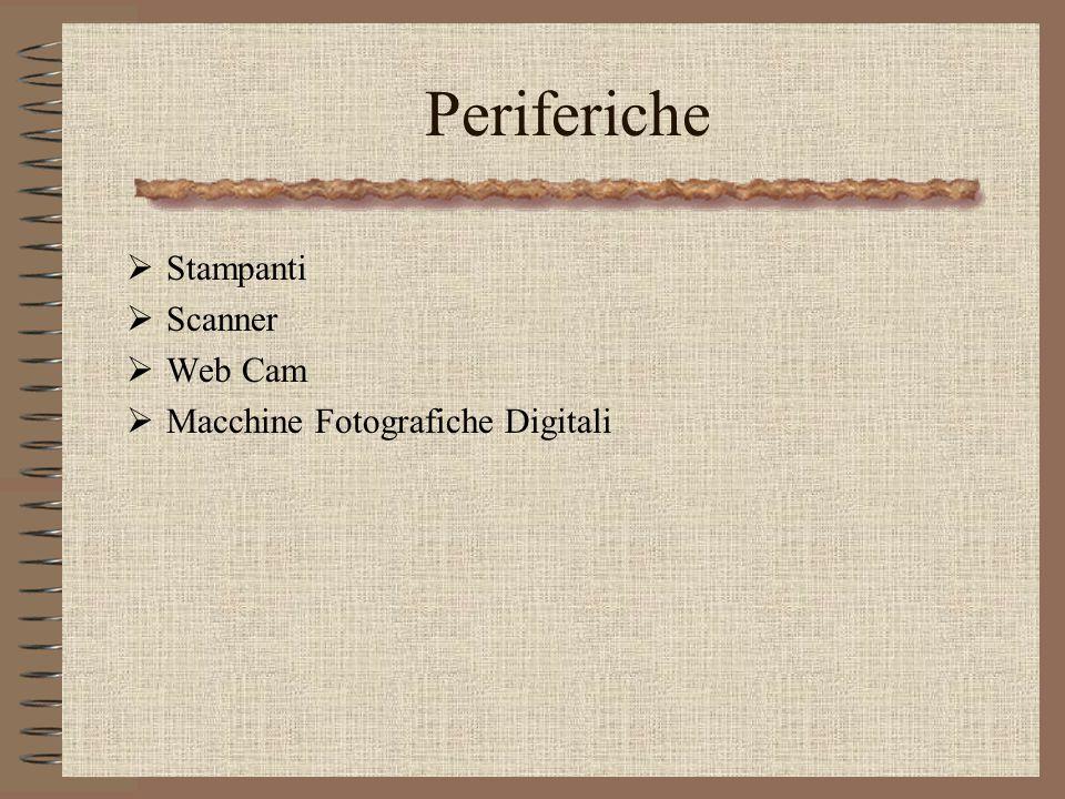 Prof.Ing.S.Cavalieri11 Periferiche Stampanti Scanner Web Cam Macchine Fotografiche Digitali