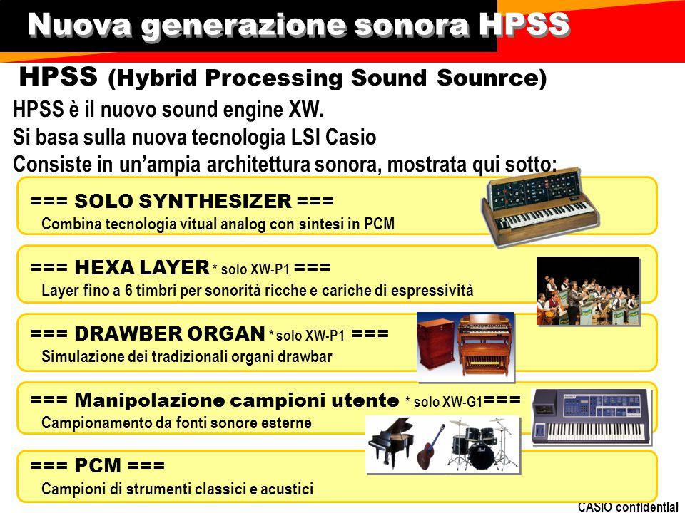CASIO confidential Nuova generazione sonora HPSS HPSS è il nuovo sound engine XW.
