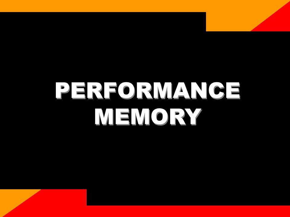 CASIO confidential PERFORMANCE MEMORY