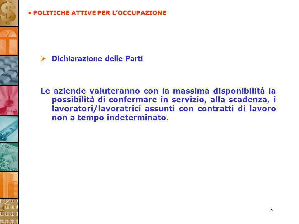 30 Valutazione professionale Le Parti stipulanti, in relazione a quanto previsto dallart.