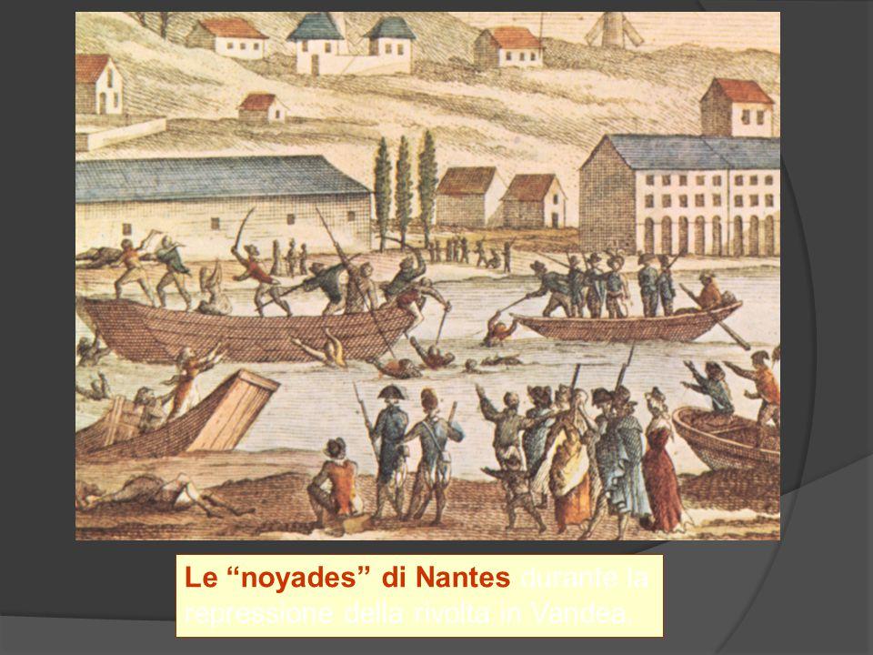 Le noyades di Nantes durante la repressione della rivolta in Vandea.