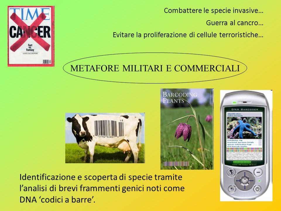 Combattere le specie invasive… Guerra al cancro… Evitare la proliferazione di cellule terroristiche… Identificazione e scoperta di specie tramite lana