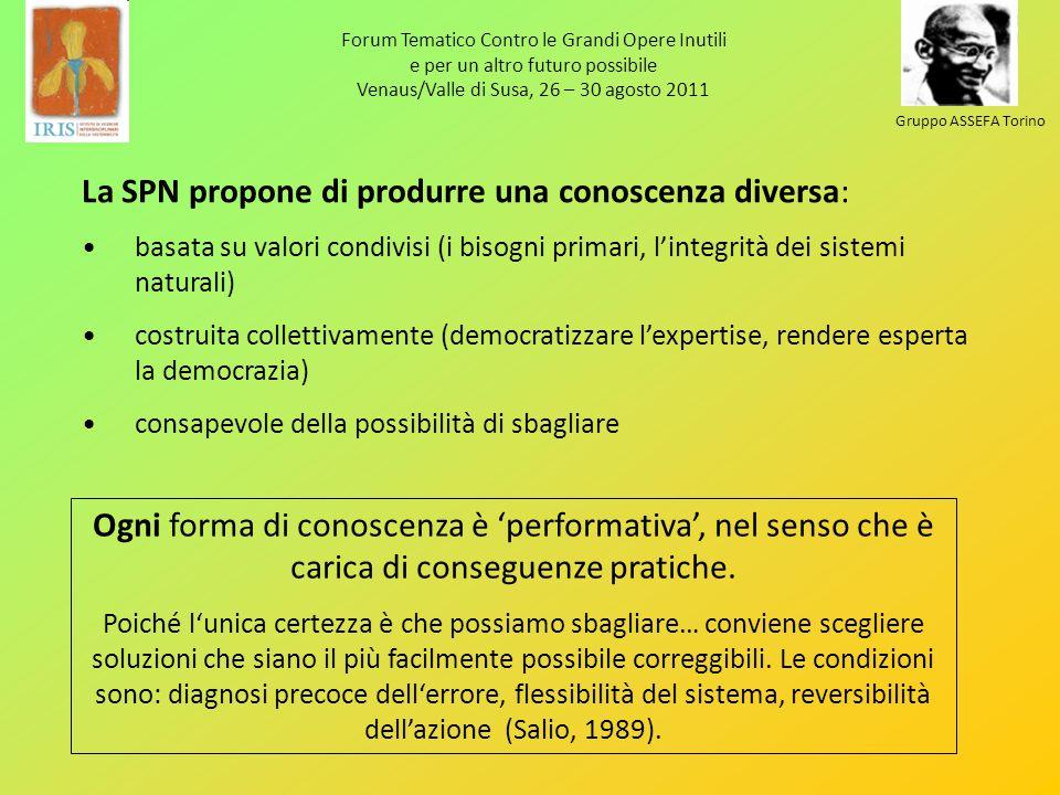 Forum Tematico Contro le Grandi Opere Inutili e per un altro futuro possibile Venaus/Valle di Susa, 26 – 30 agosto 2011 Gruppo ASSEFA Torino La SPN pr