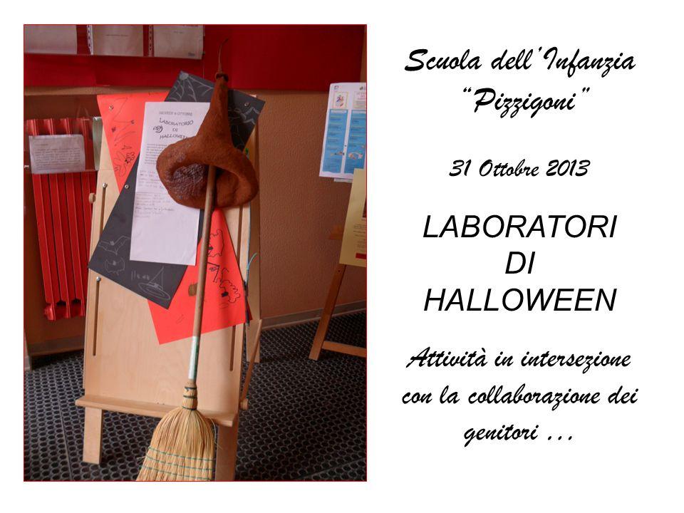 Scuola dellInfanzia Pizzigoni 31 Ottobre 2013 LABORATORI DI HALLOWEEN Attività in intersezione con la collaborazione dei genitori …