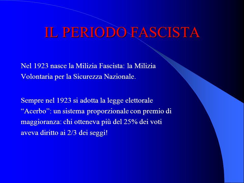 IL PERIODO FASCISTA Il discorso fu criticato da De Gasperi e Turati, anche se ottenne lo scopo: avere il via libera dei popolari per la fiducia. Musso