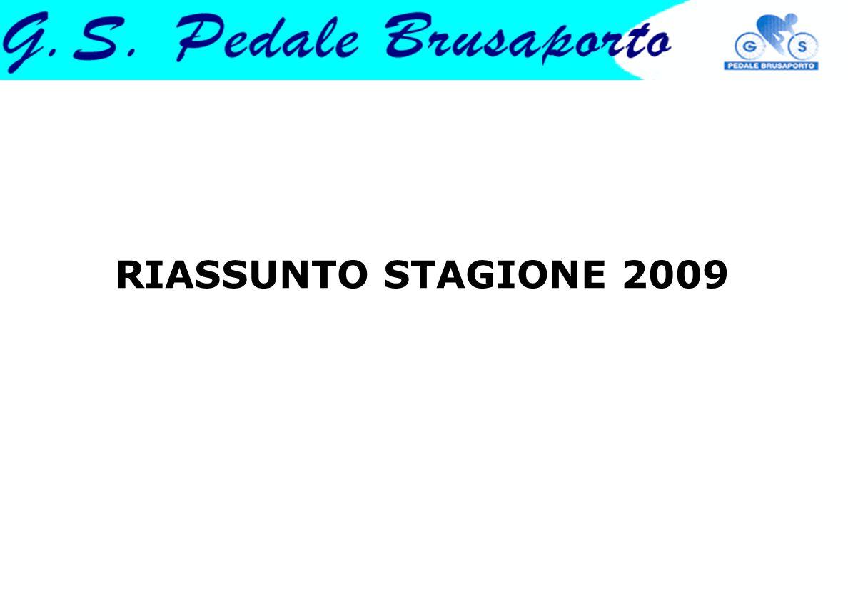 Iscritti 2009 e uscite di gruppo I ciclisti tesserati alla società sono 57, in aumento rispetto ai 49 del 2008.