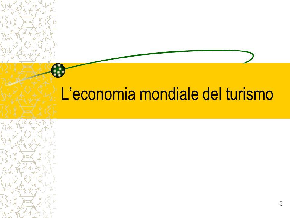 3 Leconomia mondiale del turismo