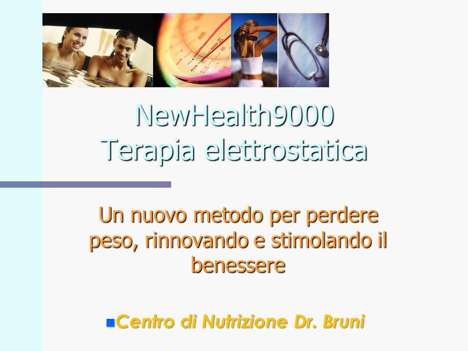 NewHealth9000 Terapia elettrostatica Un nuovo metodo per perdere peso, rinnovando e stimolando il benessere n Centro di Nutrizione Dr. Bruni
