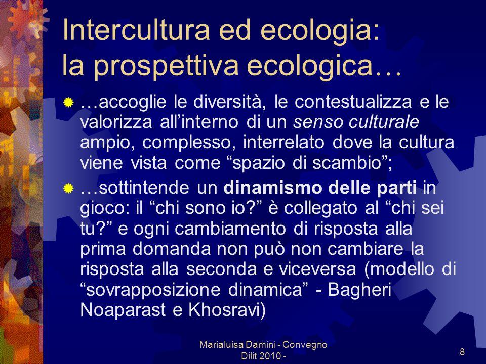 Marialuisa Damini - Convegno Dilit 2010 - 8 Intercultura ed ecologia: la prospettiva ecologica … …accoglie le diversità, le contestualizza e le valori
