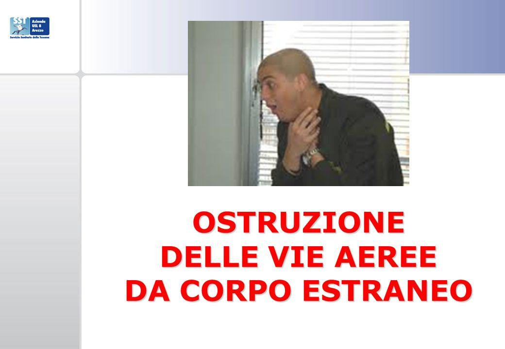 OSTRUZIONE DELLE VIE AEREE DA CORPO ESTRANEO