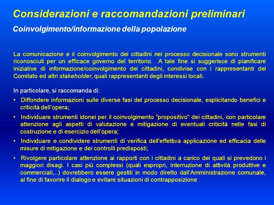 La comunicazione e il coinvolgimento dei cittadini nel processo decisionale sono strumenti riconosciuti per un efficace governo del territorio.