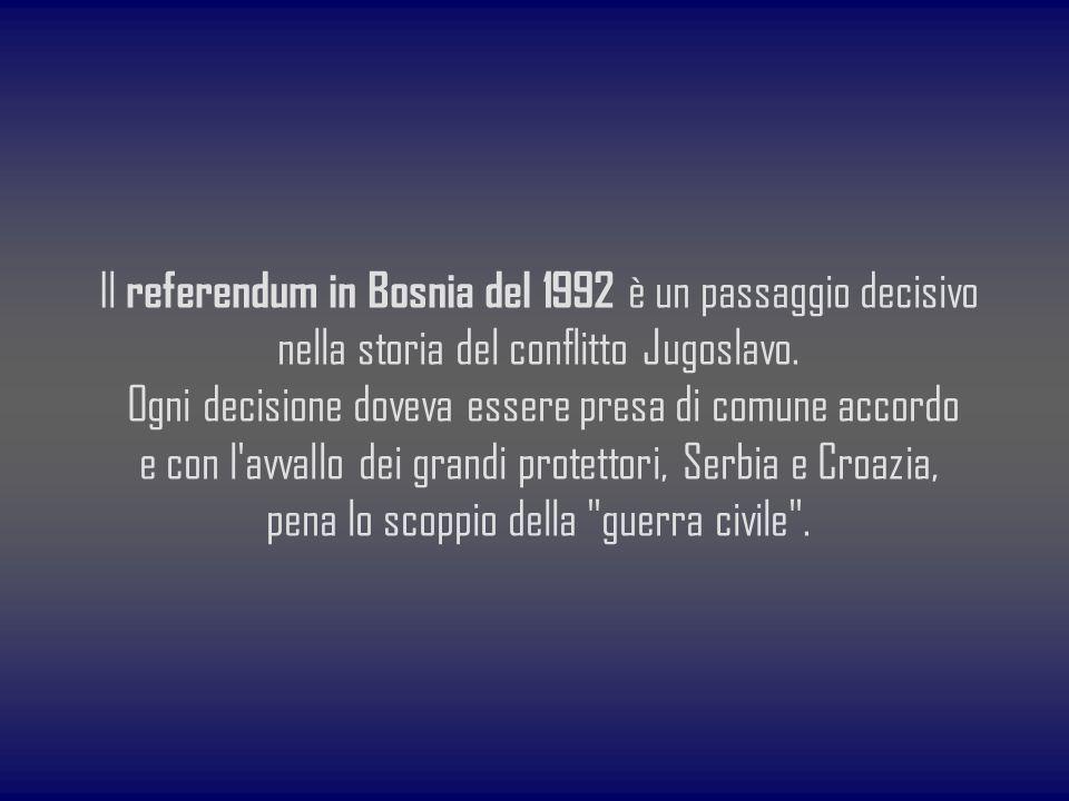 Il referendum in Bosnia del 1992 è un passaggio decisivo nella storia del conflitto Jugoslavo. Ogni decisione doveva essere presa di comune accordo e