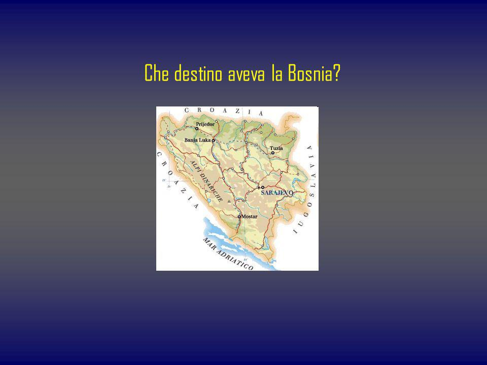 Che destino aveva la Bosnia?
