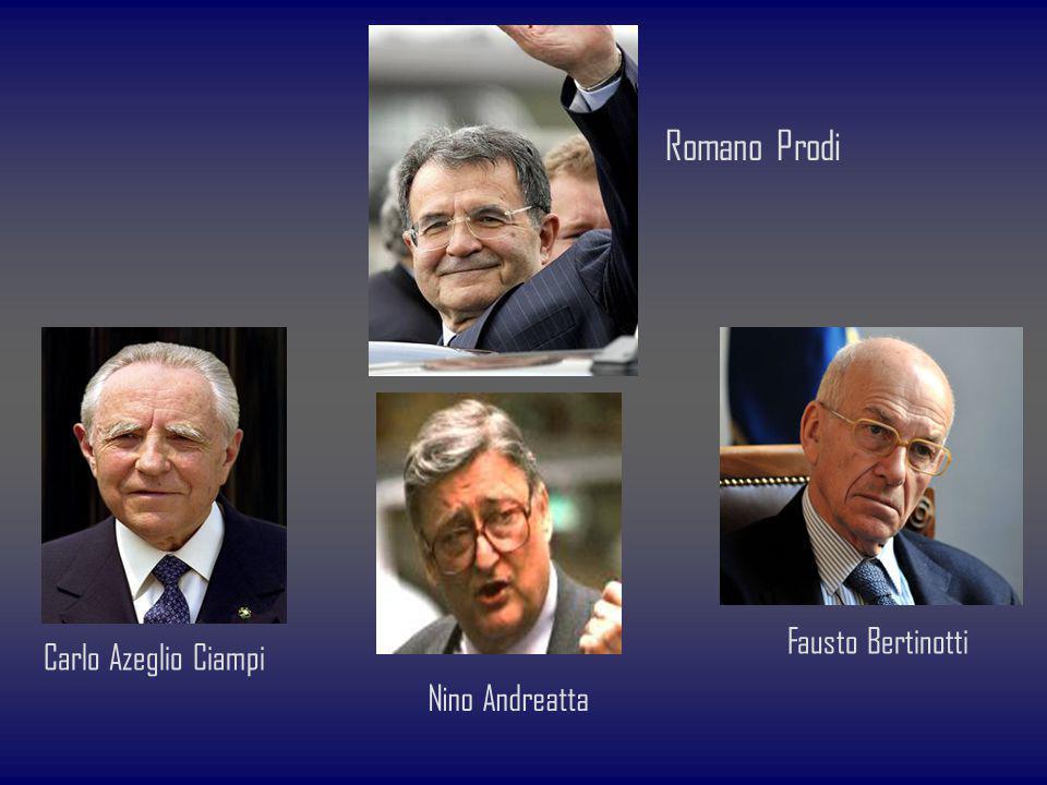 Carlo Azeglio Ciampi Nino Andreatta Fausto Bertinotti Romano Prodi