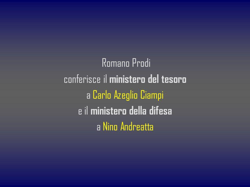 conferisce il ministero del tesoro a Carlo Azeglio Ciampi e il ministero della difesa a Nino Andreatta