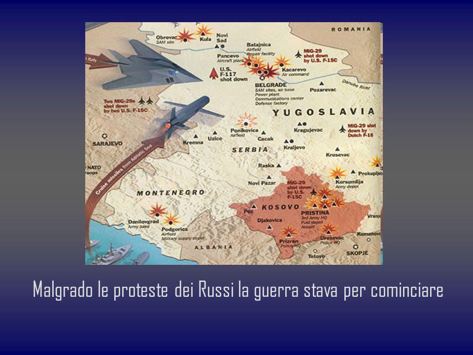 Malgrado le proteste dei Russi la guerra stava per cominciare