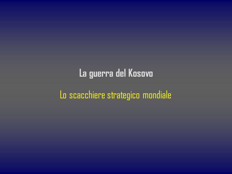 La guerra del Kosovo Lo scacchiere strategico mondiale