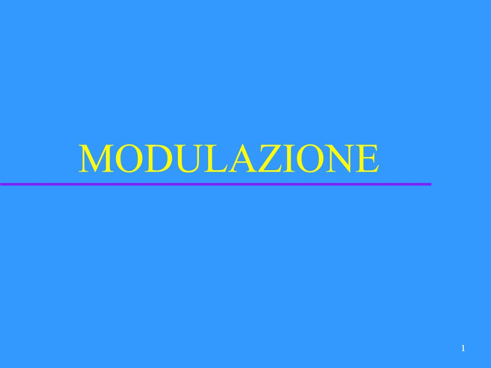 21 Segnali analogici su portanti analogiche (modulazioni classiche) u Modulazioni di ampiezza –DSB-SC –DSB-TC –SSB –VSB u Modulazioni angolari –FM –PM