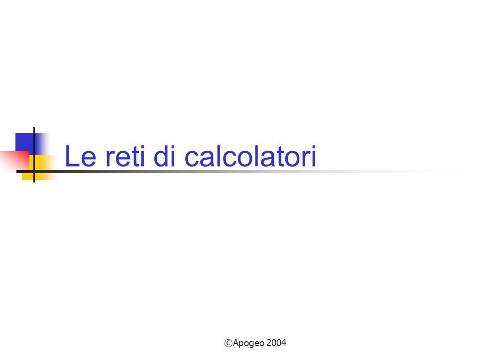 ©Apogeo 2004 Le reti di calcolatori