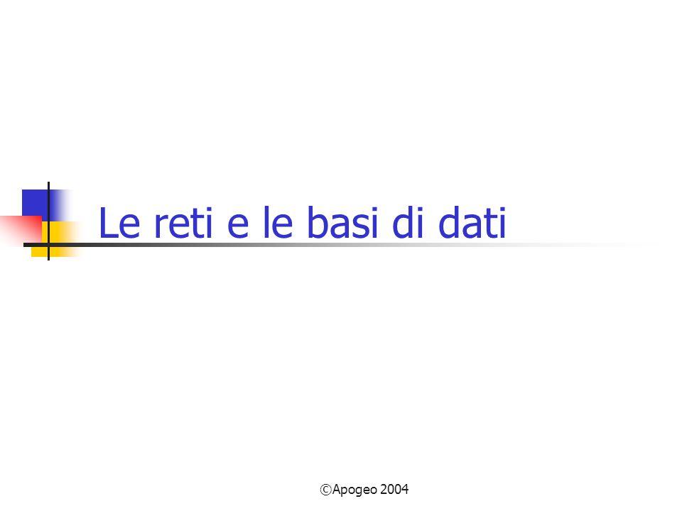 ©Apogeo 2004 Le reti e le basi di dati