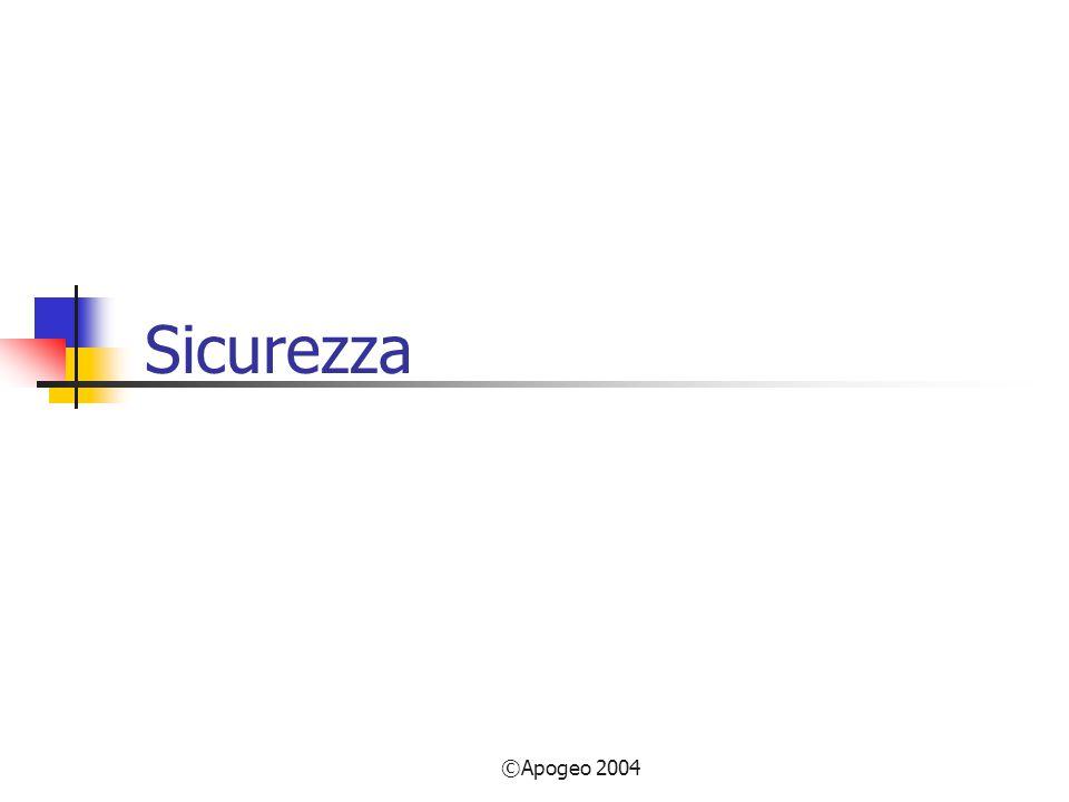 ©Apogeo 2004 Sicurezza