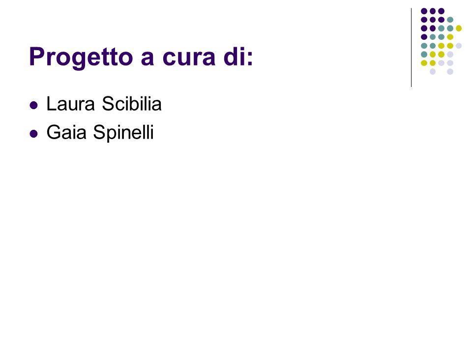 Progetto a cura di: Laura Scibilia Gaia Spinelli