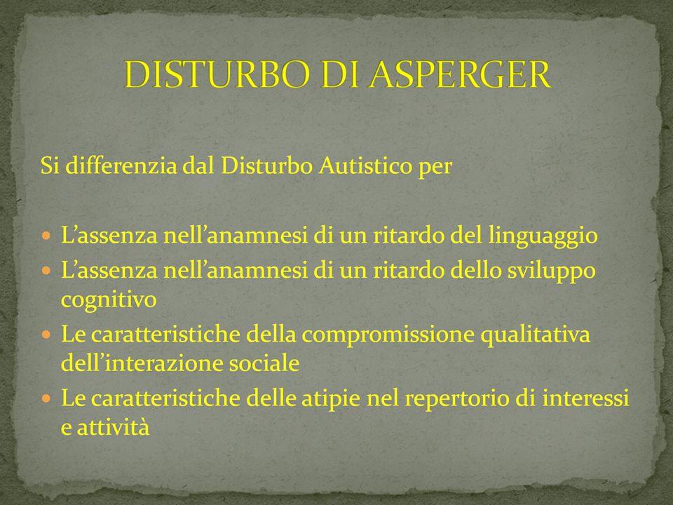 09/03/12 DISTURBO DI ASPERGER