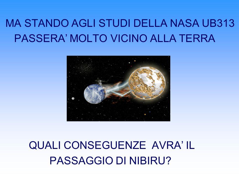 MA STANDO AGLI STUDI DELLA NASA UB313 PASSERA MOLTO VICINO ALLA TERRA QUALI CONSEGUENZE AVRA IL PASSAGGIO DI NIBIRU?
