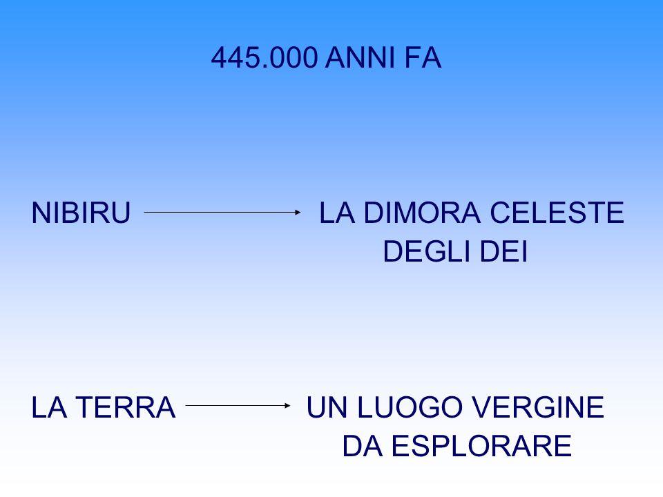 445.000 ANNI FA NIBIRU LA DIMORA CELESTE DEGLI DEI LA TERRA UN LUOGO VERGINE DA ESPLORARE