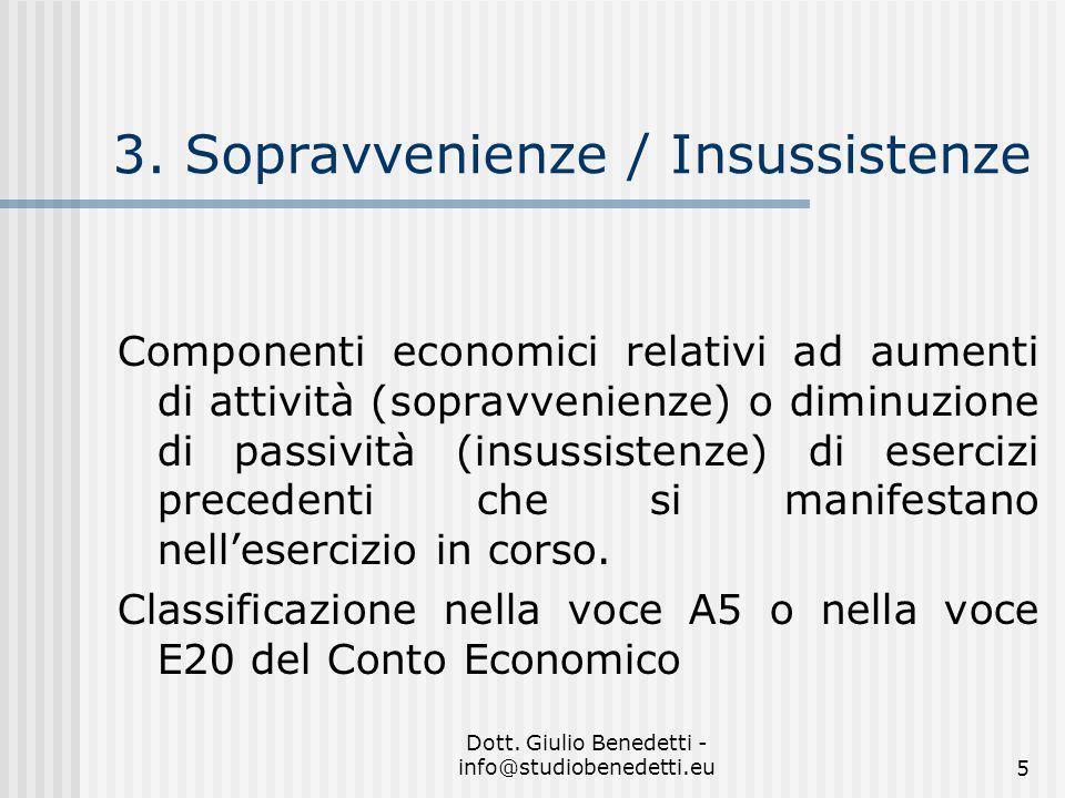 Dott.Giulio Benedetti - info@studiobenedetti.eu5 3.