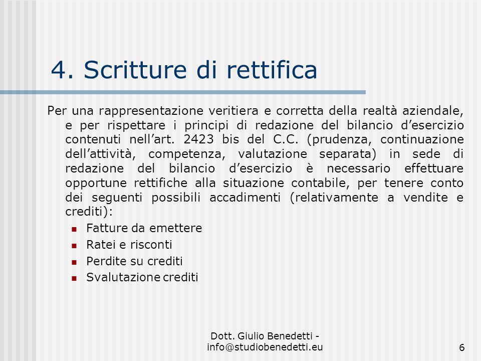 Dott.Giulio Benedetti - info@studiobenedetti.eu6 4.