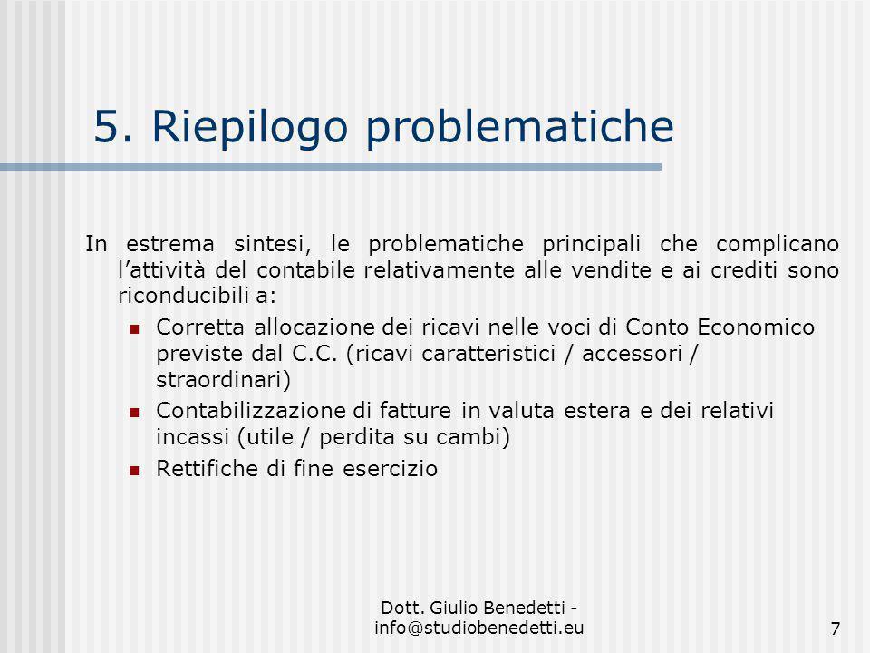 Dott.Giulio Benedetti - info@studiobenedetti.eu7 5.