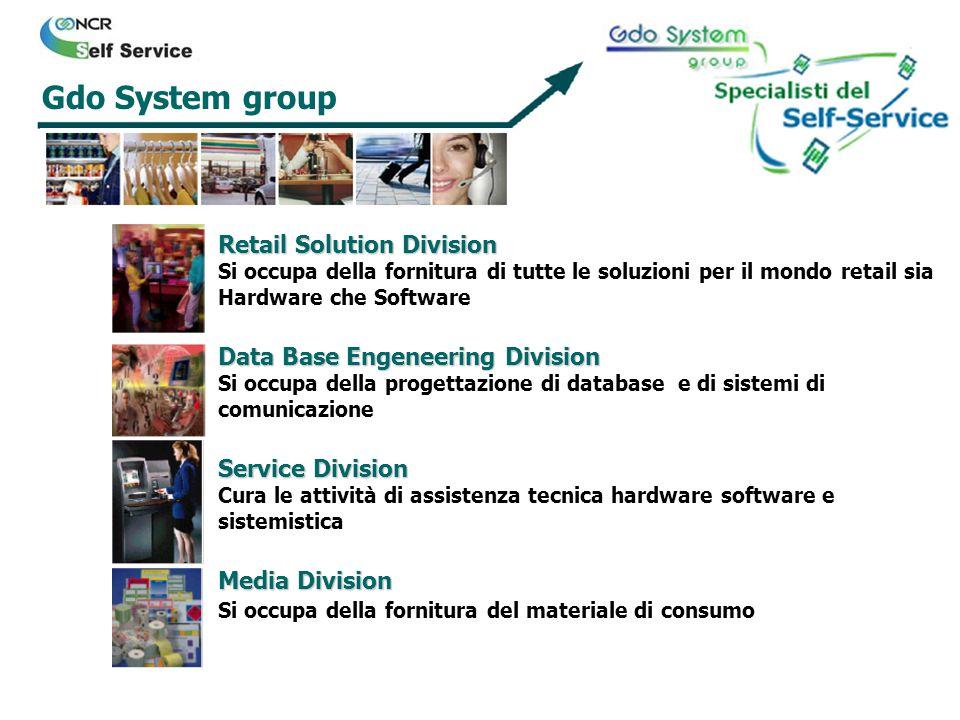 Retail Solution Division Si occupa della fornitura di tutte le soluzioni per il mondo retail sia Hardware che Software Media Division Si occupa della