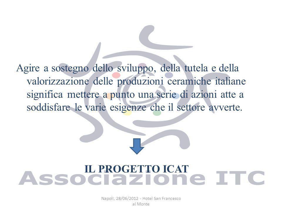 Agire a sostegno dello sviluppo, della tutela e della valorizzazione delle produzioni ceramiche italiane significa mettere a punto una serie di azioni atte a soddisfare le varie esigenze che il settore avverte.