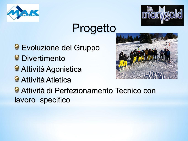 Evoluzione del Gruppo Evoluzione del Gruppo Il gruppo Ragazzi-Allievi quest anno si è ulteriormente diversificato: - Programma agonistico/atletico race sviluppato sui calendari Regionali e nazionali/internazionali.
