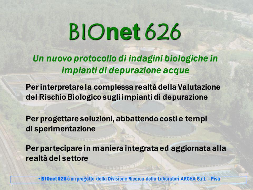 BIOnet 626 Un nuovo protocollo di indagini biologiche in impianti di depurazione acque Per interpretare la complessa realtà della Valutazione del Risc