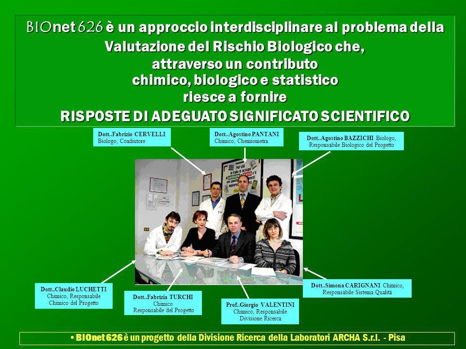 BIOnet 626 è un approccio interdisciplinare al problema della Valutazione del Rischio Biologico che, attraverso un contributo chimico, biologico e sta