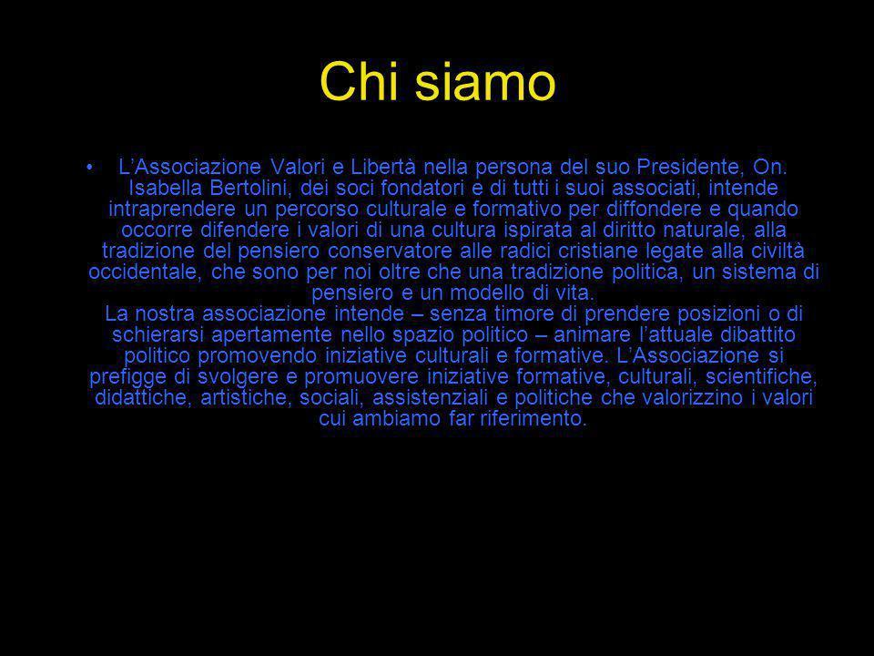 Consiglio Direttivo On.Isabella Bertolini - Presidente; On.